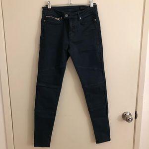 Dark Blue Skinny Biker Pants! (All Saints🧵)